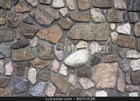 Stone wall. stock photo, Wall from a natural stone. by Yury Ponomarev