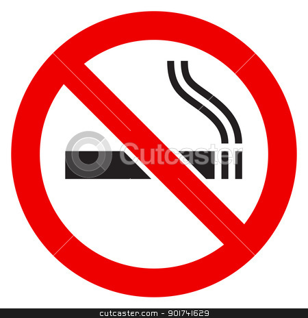 The sign No Smoking stock photo, The simple sign No Smoking. Illustration on white background by dvarg