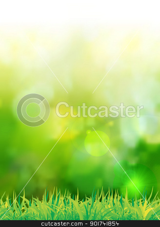 natural green background with selective focus stock photo, natural green background with selective focus. Vector illustration by sermax55