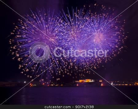 Malta Fireworks Festival stock photo, Fireworks over the Grand Harbour - Malta by Lenise Zerafa