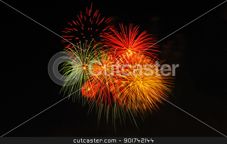 Festa Fireworks stock photo, Traditional fireworks display for the Maltese Festa by Lenise Zerafa