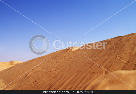 desert landscape stock photo, beautiful day in the dunes of Africa by Viktor Thaut