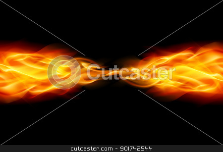 Abstract Flame stock photo, Star with Abstract Flame tail in Space by dvarg