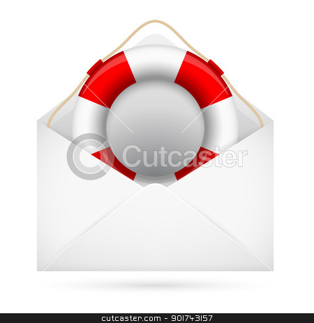 Help mail stock photo, Help mail. Illustration for design on white background by dvarg