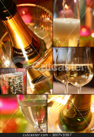 Botella de champana stock photo, Botella de champana by photography33