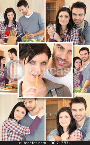 Couple mosaic stock photo, Couple mosaic by photography33