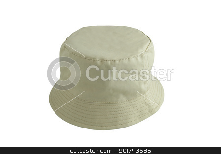 Beige fishing hat stock photo, Beige fishing hat by photography33