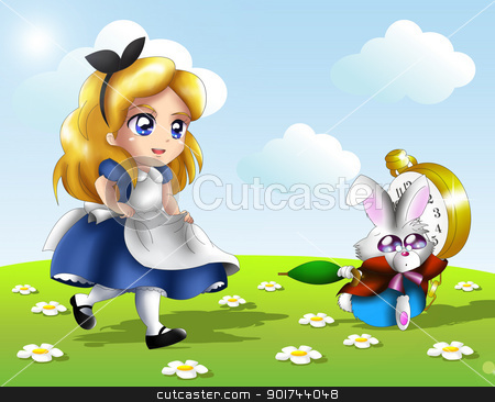 Chibi Alice stock photo, Alice in wonderland in chibi version. by Pascal G.
