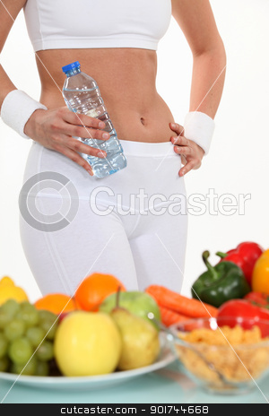 Woman and her healthy diet stock photo, Woman and her healthy diet by photography33