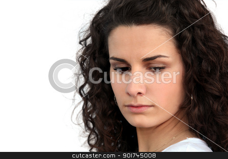 Angry young woman stock photo, Angry young woman by photography33