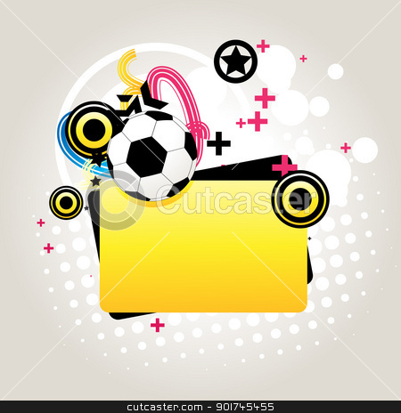 Abstract football vector stock vector clipart, vector abstract football in funky background with space for text by pinnacleanimates