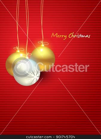 christmas ball stock vector clipart, beautiful vector christmas balls by pinnacleanimates