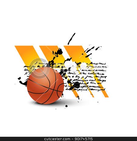 vector basketball stock vector clipart, vector abstract basketball design by pinnacleanimates
