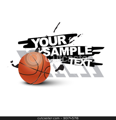 vector basketball stock vector clipart, vector abstract basketball design by pinnacleanimates