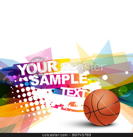 abstract basketball stock vector clipart, abstract basketball colorful background by pinnacleanimates
