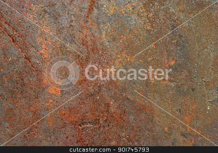 Rusty iron sheet surface stock photo, Rusty iron sheet surface close-up as background by Aleksandar Varbenov