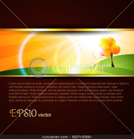 stylish template stock vector clipart, stylish tree template. Eps10 vector by pinnacleanimates