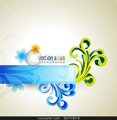 floral artwork stock vector clipart, beautiful floral artwork vector design by pinnacleanimates