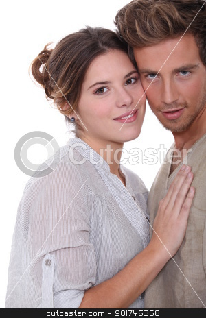portrait of a couple in love stock photo, portrait of a couple in love by photography33