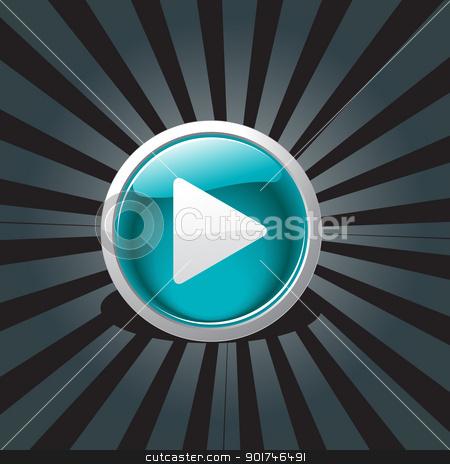abstract play button design stock vector clipart, vector play button design art by pinnacleanimates