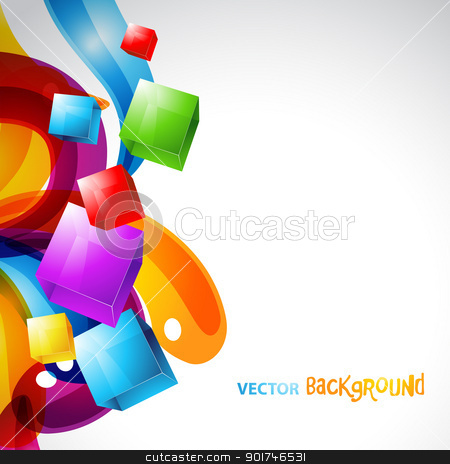 colorful cubes with stylish background stock vector clipart, colorful cubes with stylish colorful background. Eps10 design artwork by pinnacleanimates