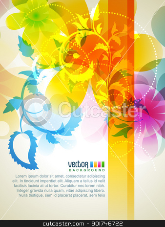 colorful vector stock vector clipart, colorful vector floral artwork design by pinnacleanimates