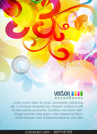 colorful background stock vector clipart, vector colorful floral artwork design by pinnacleanimates