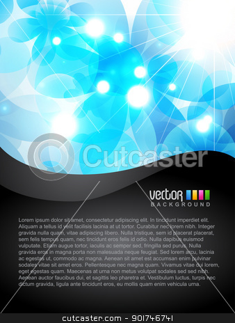 flower vector stock vector clipart, beautiful blue color flower background by pinnacleanimates