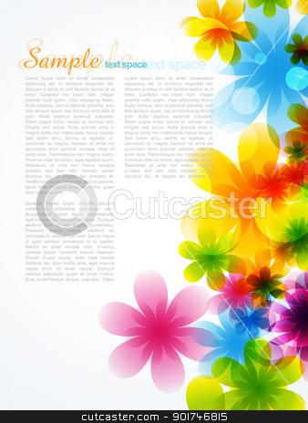 beautiful flower background stock vector clipart, stylish beautiful flower background with space for your text by pinnacleanimates
