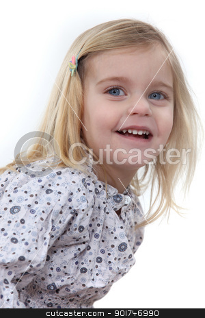 Happy little girl stock photo, Happy little girl by photography33