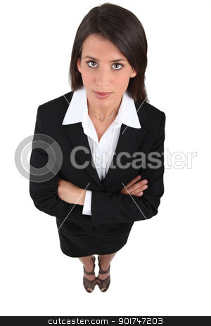 high-angle view of a woman stock photo, high-angle view of a woman by photography33