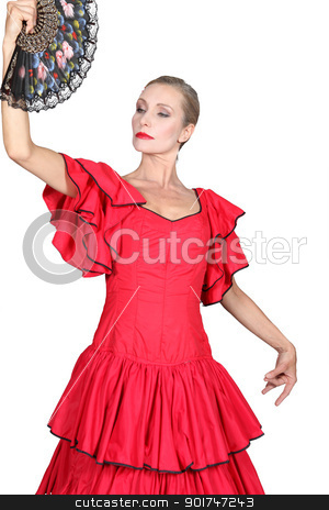 Woman dressed as Spanish senorita stock photo, Woman dressed as Spanish senorita by photography33