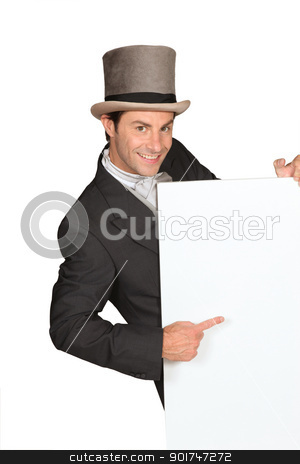 Man in top hat stock photo, Man in top hat by photography33