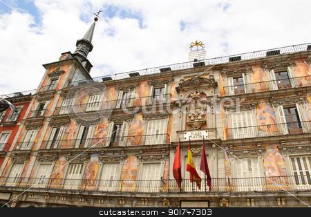 Plaza Mayor, Madrid stock photo, Plaza Mayor, Madrid, Spain by dinozzaver