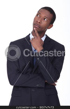 Businessman thinking stock photo, Businessman thinking by photography33