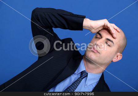 businessman having a headache stock photo, businessman having a headache by photography33
