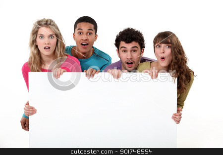 students holding copyspace stock photo, students holding copyspace by photography33