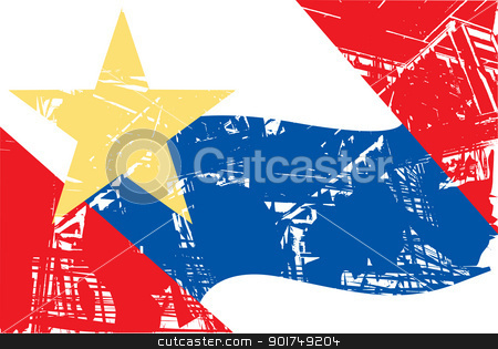 Lafayette city flag stock photo, Flag of Lafayette city in the U.S.A  by Martin Crowdy