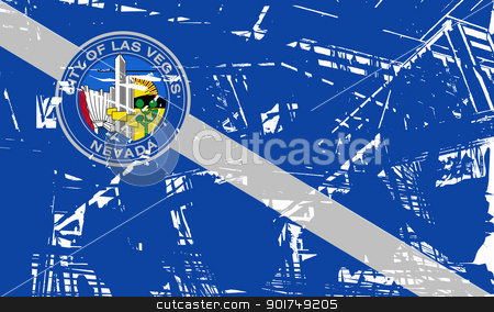 Las Vegas city flag stock photo, Flag of Las Vegas city, Nevada, in the U.S.A  by Martin Crowdy