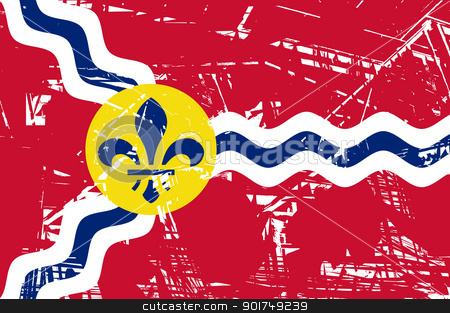 St Louis flag stock photo, City flag of St Louis city in Missouri in the U.S.A.  by Martin Crowdy