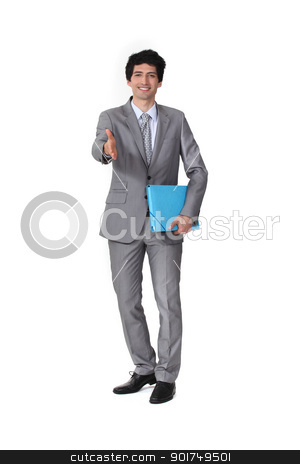 Businessman handshaking stock photo, Businessman handshaking by photography33