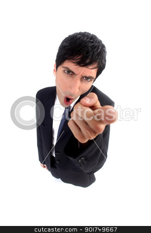 angry businessman pointing you stock photo, angry businessman pointing you by photography33