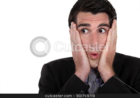 Surprised businessman stock photo, Surprised businessman by photography33