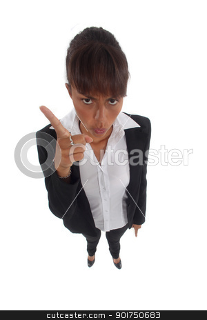 Businesswoman wagging her finger stock photo, Businesswoman wagging her finger by photography33