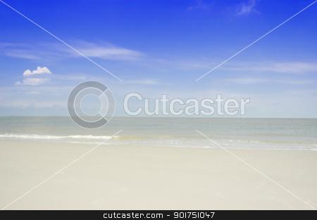 Tropical beach  stock photo, Beautiful Tropical beach background, with blue sky.  by szefei