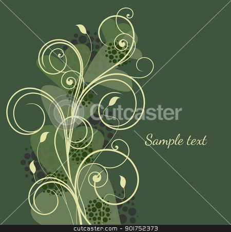 beautiful vintage stock vector clipart, Beautiful vintage on green background by Miroslava Hlavacova