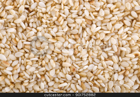 Sesame Seed.  stock photo, Close up on a pile of dried Sesame Seed.  by szefei