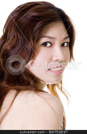 Asian Beauty  stock photo, Isolated portrait of Asian beauty  by szefei