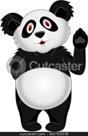 Panda cartoon stock vector clipart, Vector Illustration Of Panda cartoon by Surya Zaidan