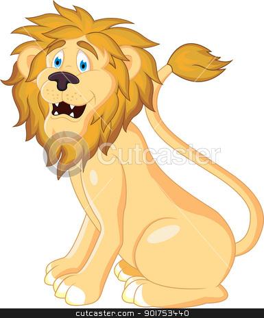 lion cartoon  stock vector clipart, Vector Illustration Of lion cartoon  by Surya Zaidan